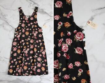 floral dress / rose print dress / tank dress
