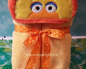 Yellow Big Bird Hooded Towel