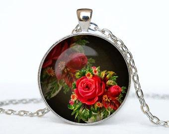 Flower necklace Flower pendant Flower jewelry Rose