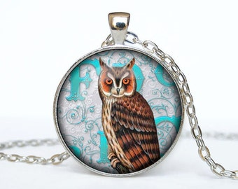 Steampunk owl necklace Steampunk owl pendant Steampunk owl jewelry
