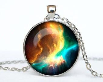 Nebula necklace nebula pendant Galaxy jewelry Universe pendant