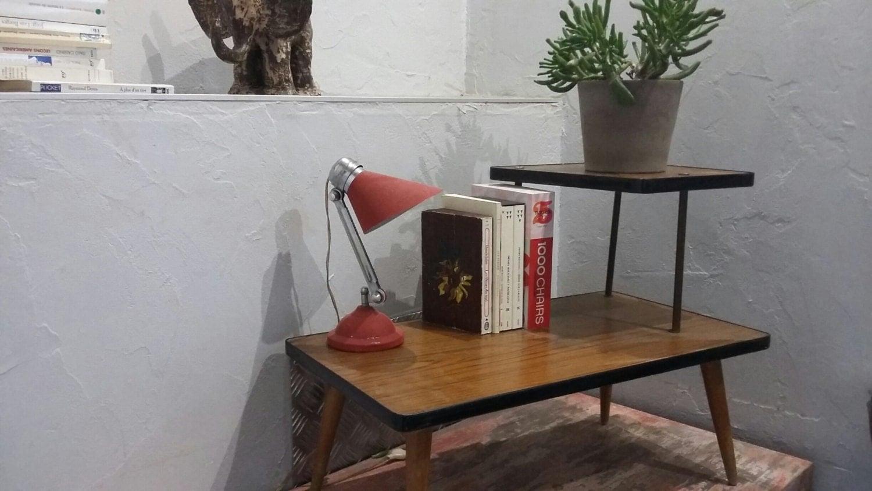 Porte plante fleur gu ridon esprit vintage tabouret de fleur esprit vintage - Tabouret haut vintage ...