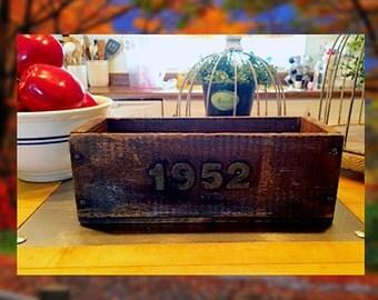 "Custom ""Year"" Wooden Box, Reclaimed wood box"
