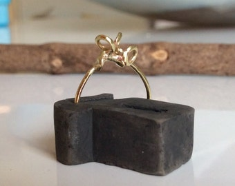 Handmade brass ring/ Stackable ring/ Contemporary ring/Gift idea