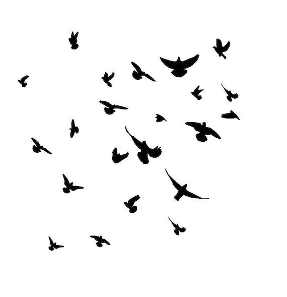 12 12 pochoir doiseaux en vol for Pochoir oiseau