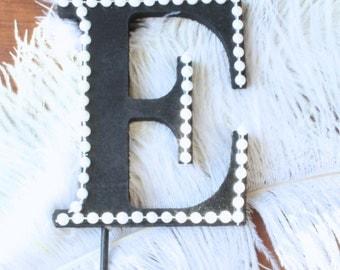 """Gatsby / Roaring 20's letter """"E"""" cake topper"""