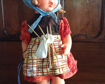 "Goebel Hummell 12 "" Vinyl Doll A Stitch In Time Germany"