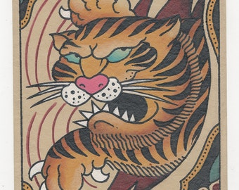 Tiger - Traditional Tattoo Print