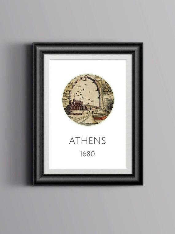 Athens - 1572 - Old city map