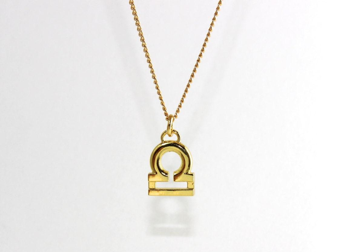libra choker zodiac sign necklace gold or silver