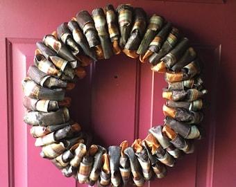Fall ribbon wreath!