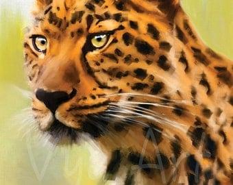 Cheetah painting art print of cheetah cheetah art big cats painting African art African painting wall art home decor still life Animal Art