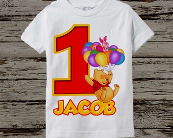 Winnie the Pooh Birthday Shirt - More Options Available