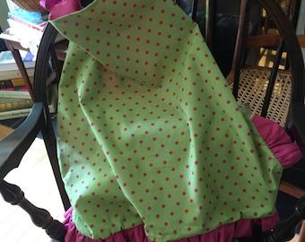 Girls polka dot apron