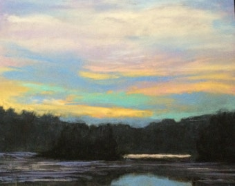 Landscape: Spring Sky Over The Pond