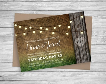 Rustic Invitation - Forest Background