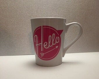 "Bright and Cheery ""Hello"" mug"
