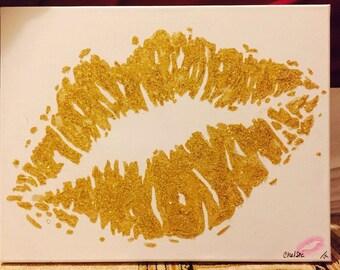 Glitter Lip Canvas