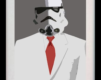 Stormtrooper Star Wars Suit (Limited Edition of 100) - A3 Star Wars Poster Art Print Illustration Fantasy White Decor Wall Art Gift Rare