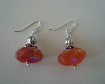 Carnelian Nugget Earrings