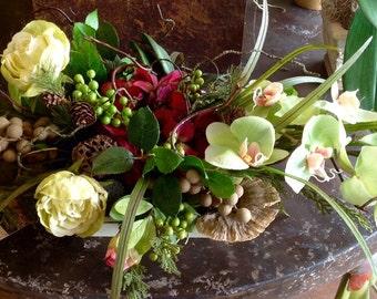 Faux Phalaenopsis Centerpiece