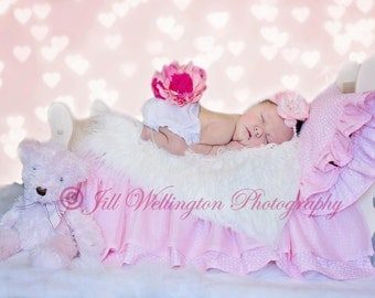 DIGITAL Background for baby, child, infant, newborn kid photo photography prop for photographers: Newborn Princess Bed