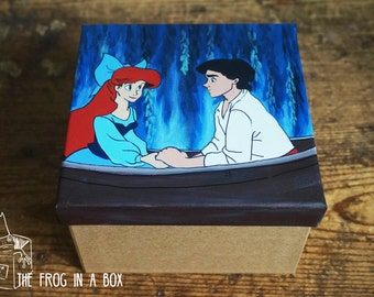 Hand-Painted The Little Mermaid Box