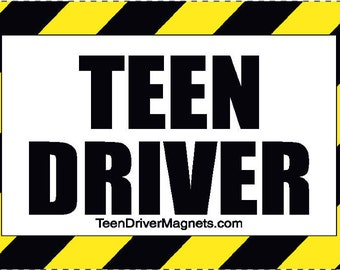 """Teen Driver 4"""" x 6"""" Magnet for vehicles"""