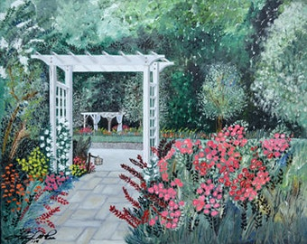 "Original Oil Painting - ""Dewberry's Welcome"" (16"" x 20"" Original Oil Painting)"