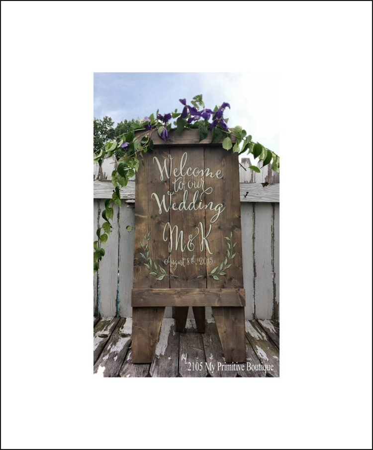 Ships Canada Us Wide Wood Sign: Custom Wedding Sign A Frame Sign Aged Wood By