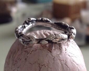 Sterling silver Leaf ring -In a leafy wood
