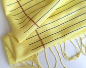 Legal Pad scarf. Butter yellow wide ruled lined paper design. Linen weave pashmina. Perfect legal assistant, lawyer, scretary gift.
