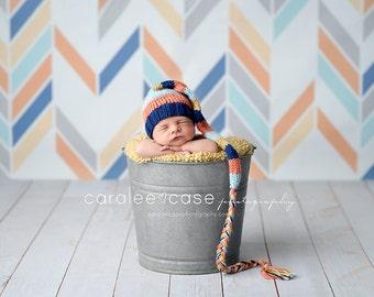Dylan - Long Tail Newborn Stocking Hat