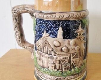 vintage ceramic beer stein Japan