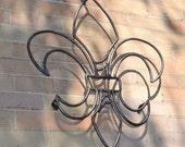 "24"" Tall Steel Fleur de Lis Wall Art - New Orleans - Hurricane Katrina"