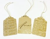 16 Brown Printed Gift Tags
