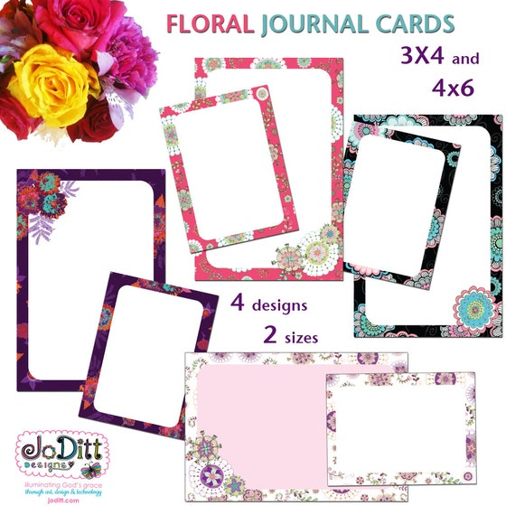 War Room Floral Prayer Cards by JoDitt Designs