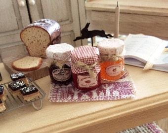 Dolls House Miniature Country Jam Trio