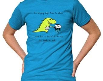 I'm Bringing Baby Trex To School Tshirt - Cute Funny Dinosaur T-Shirt - Mens & Ladies Sizes