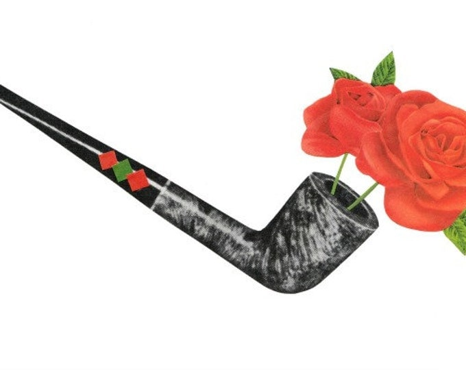Contemporary Flower Art Collage, Original OOAK Floral Artwork