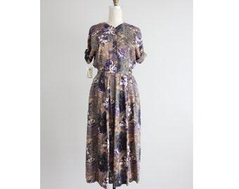 90s floral dress / long floral dress / floral dress women