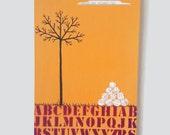 Flannel Weather | Mixed Media Tree Art on Wood