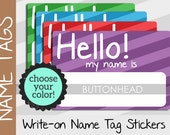 10 Party Name Tags - Hello My Name Is Stickers - Sticker Name Tags
