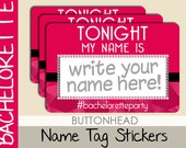 10 Bachelorette Party Name Tags Stickers