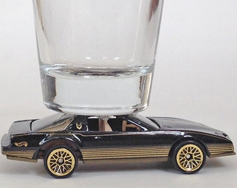 The ORIGINAL Hot Shot, Shot Glass, Classic Hot Rods, '80's Firebird, T Top, Hot Wheels