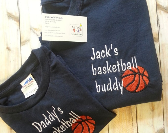 One Personalized Custom Matching Sport Father and Son Buddy Shirt Father's Day