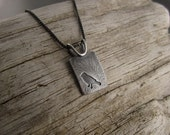 Fly Free Sterling Silver Bird Pendant