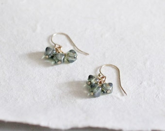 brontë - glass bead earrings by elephantine