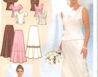 Brides skirt top or evening wear or brides outfit for wedding party sewing pattern Simplicity 7209 Bust 35 to 46 includes plus size UNCUT
