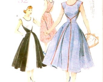 Retro 1952 Rockabilly dress sewing pattern Butterick 4790 size 8 to 10